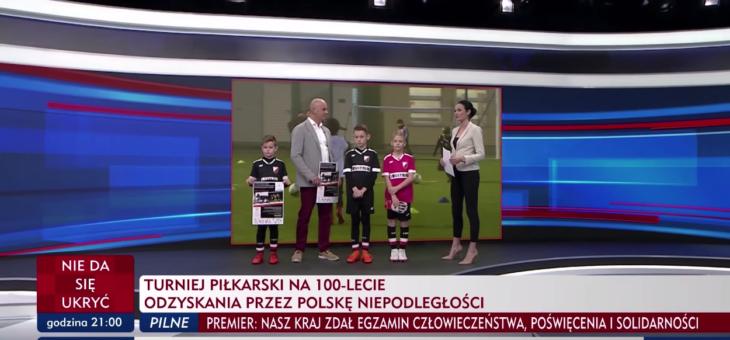 Turniej piłkarski na 100 lecie odzyskania niepodłegłości w TVP Info